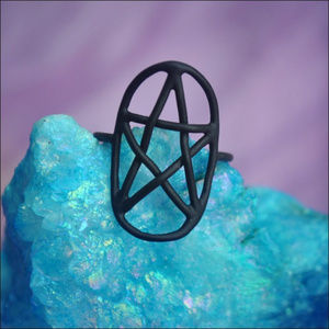 Jewelry - Matte Black Pentagram Ring